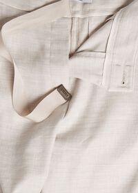Linen Pant with Grossgrain Belt, thumbnail 4