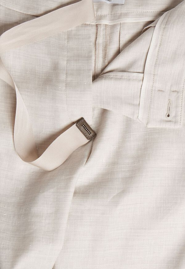 Linen Pant with Grossgrain Belt, image 4