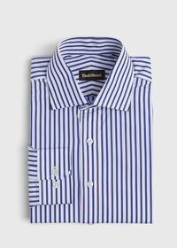 Slim Fit Blue Bold Bengal Stripe Dress Shirt, thumbnail 1