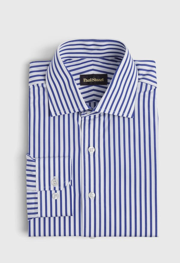 Slim Fit Blue Bold Bengal Stripe Dress Shirt, image 1