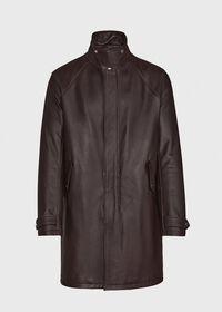Leather Zip Up Coat, thumbnail 5