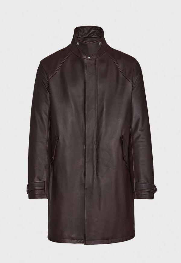 Leather Zip Up Coat, image 5
