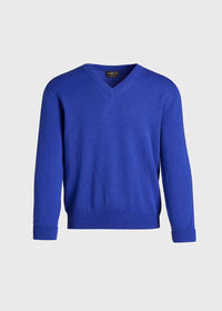 Scottish Cashmere V-Neck Sweater, thumbnail 1