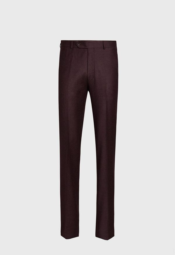 Burgundy Flannel Trouser, image 1