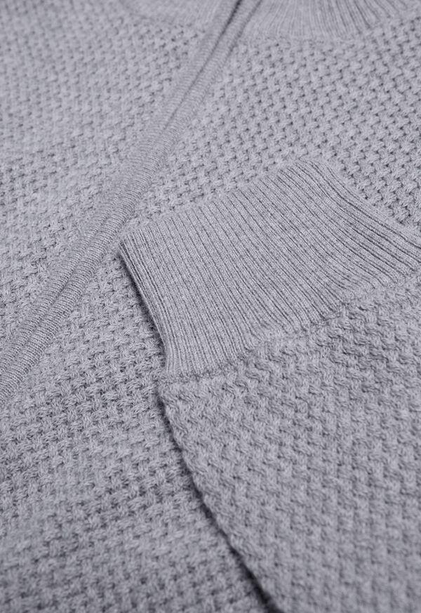 Pique Full Zip Sweater, image 2