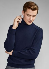 Classic Cashmere Double Ply Turtleneck Sweater, thumbnail 4