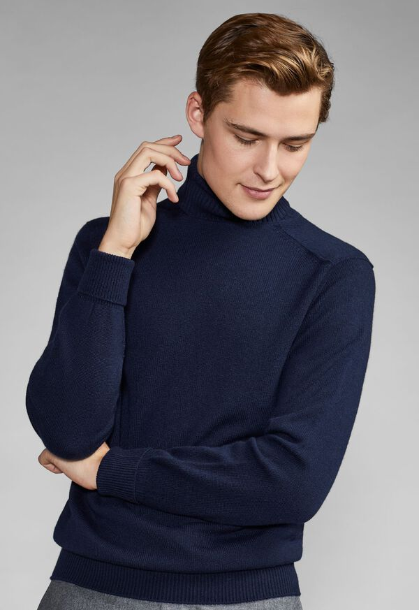 Classic Cashmere Double Ply Turtleneck Sweater, image 4