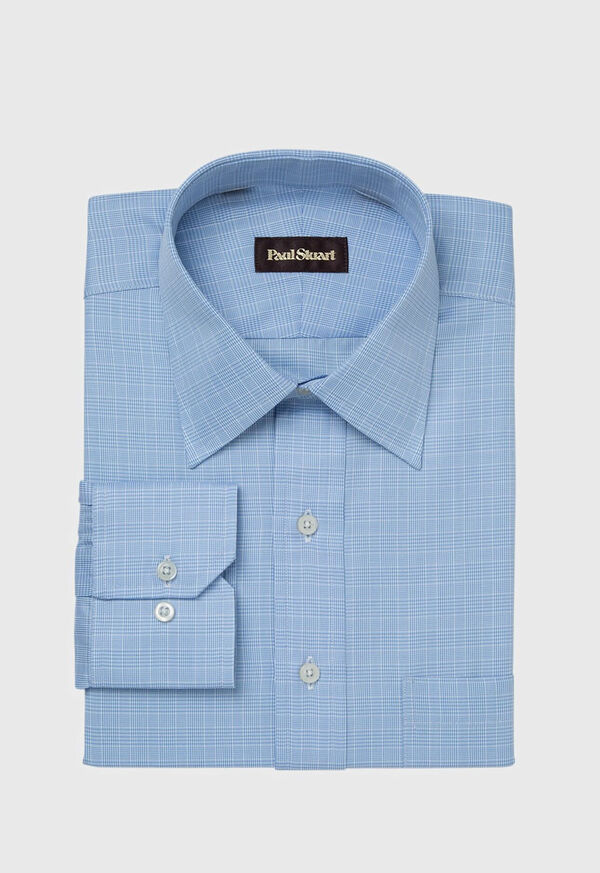 Blue Glen Plaid Cotton Dress Shirt, image 1