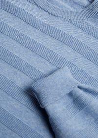 Cotton Crewneck with Horizontal Ribs, thumbnail 2