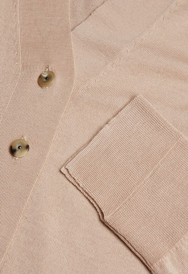 Lightweight Wool Button Front Cardigan, image 2