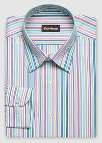 Cotton Rainbow Stripe Sport Shirt, thumbnail 1