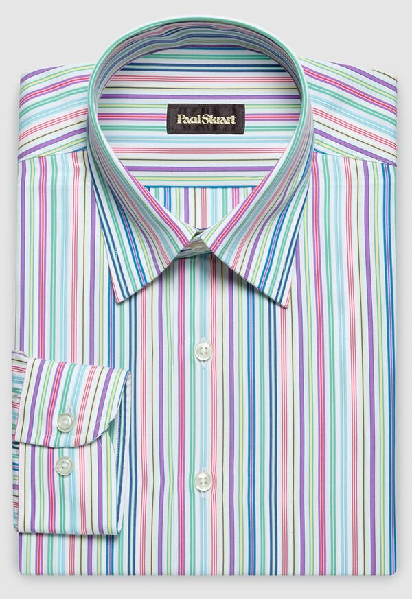 Cotton Rainbow Stripe Sport Shirt, image 1
