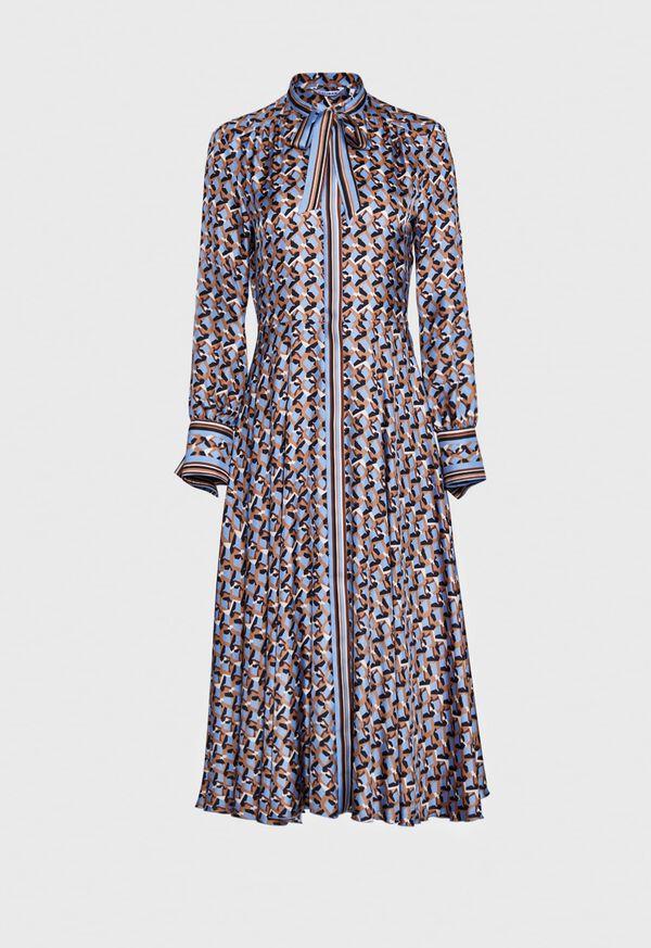 Abstract Print Silk Dress, image 1