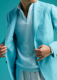 Light Blue Cashmere Soft Jacket, thumbnail 4