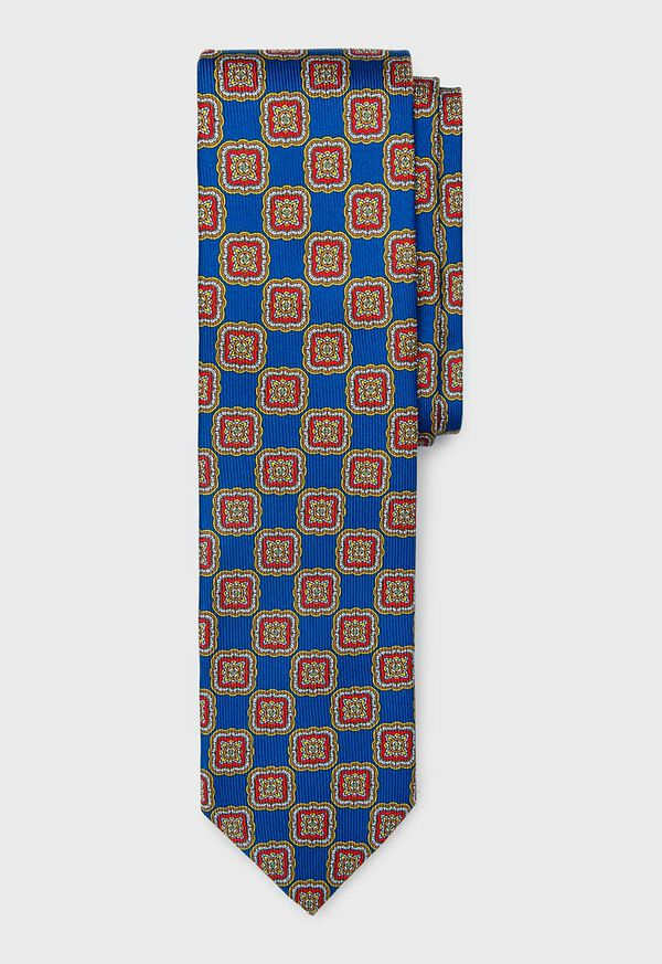 Silk Large Medallion Tie, image 1