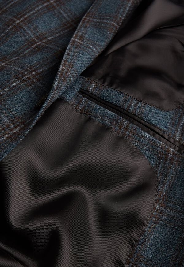 Grey and Brown Plaid Sport Jacket, image 3