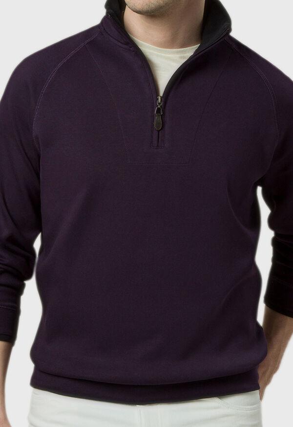 Pima Cotton 1/2 Zip Sweater, image 3