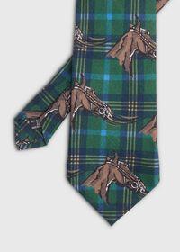 Equestrian Print Tie, thumbnail 1