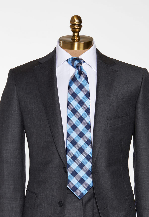 Oxford Check Silk Tie, image 2