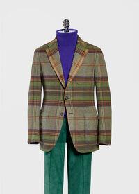 Horseblanket Green Plaid Sport Jacket, thumbnail 2
