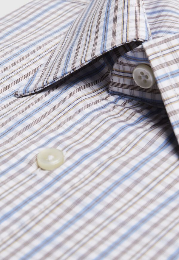 Cotton Check Dress Shirt, image 2