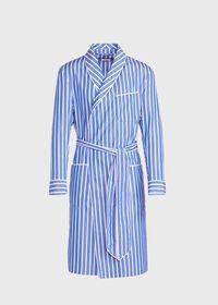 Awning Stripe Cotton Robe, thumbnail 1