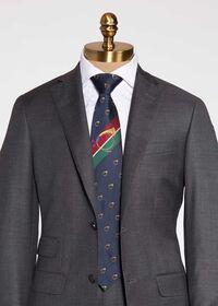 Bugle Motif Stripe Silk Tie, thumbnail 1