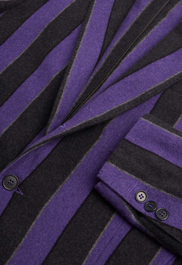 Rice Stitch Merino Wool Stripe Blazer, image 2