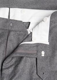 Solid Super 120s Wool Flannel Plain Front Trouser, thumbnail 2