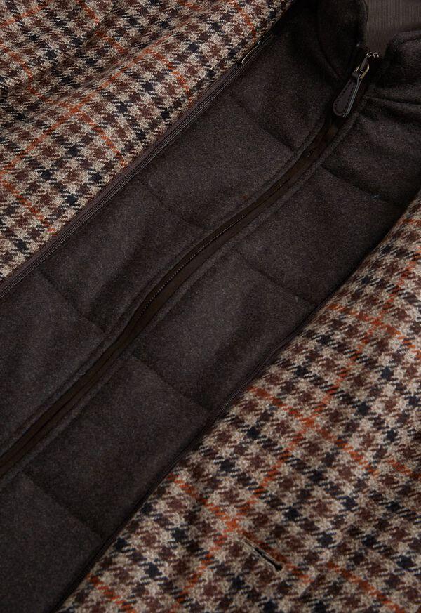 Plaid Travel Jacket with Suede Vest, image 4