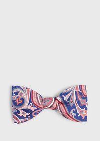 Silk and Linen Paisley Bowtie, thumbnail 1