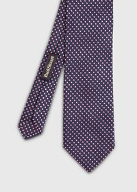 Textured Ground Jacquard Dot Tie, thumbnail 1