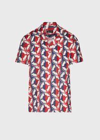 Linen Buoy Print Shirt, thumbnail 1