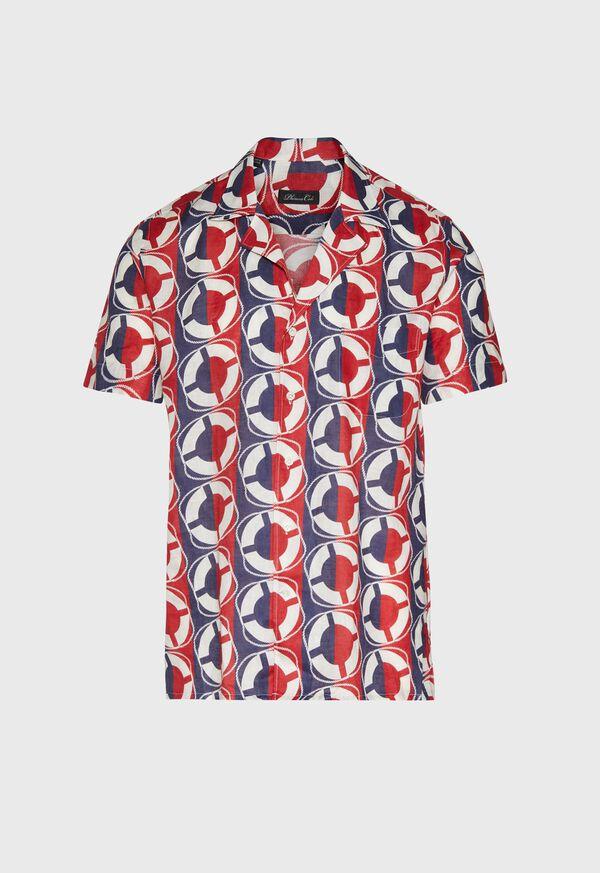 Linen Buoy Print Shirt, image 1