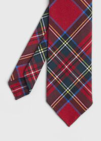 Red Tartan Wool Tie, thumbnail 1