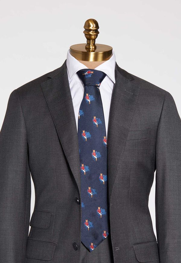 Fox Club Silk Tie, image 2