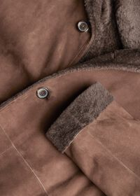 Reversible Lightweight Shearling Coat, thumbnail 2