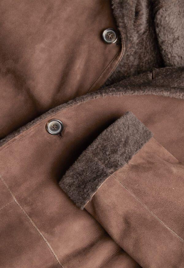 Reversible Lightweight Shearling Coat, image 2