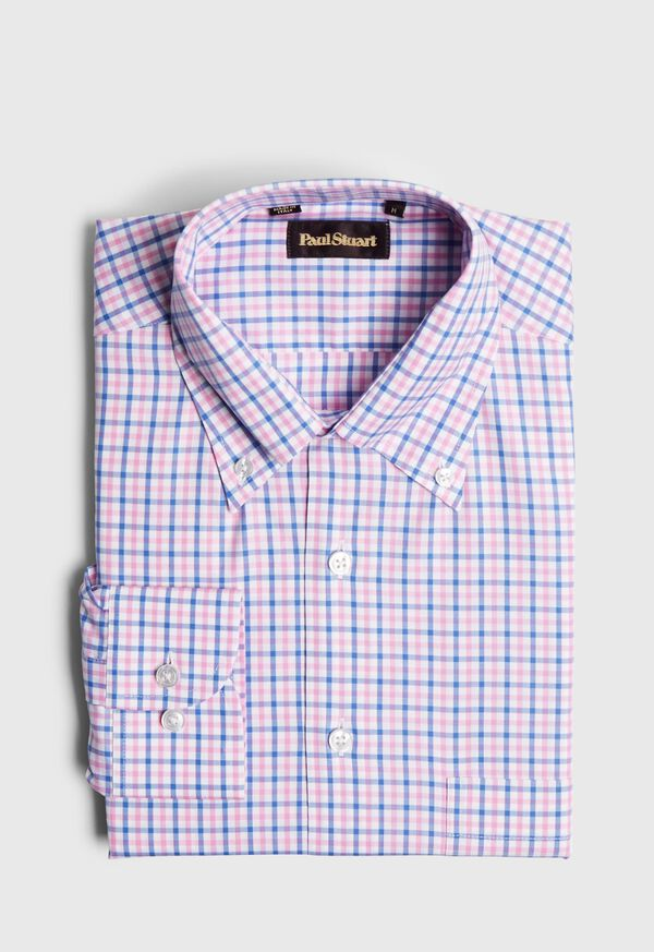 Check Cotton Sport Shirt, image 1