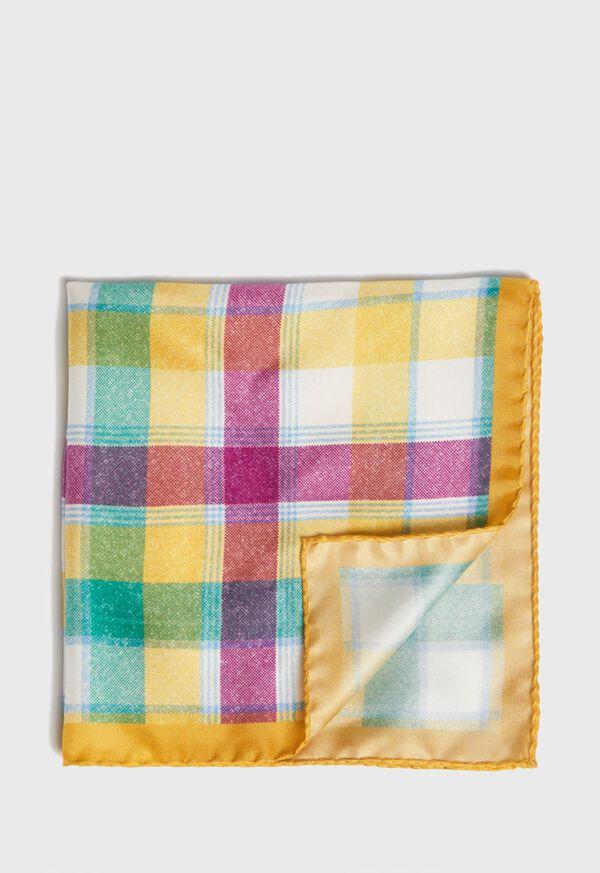 Multi Plaid Pocket Square, image 1