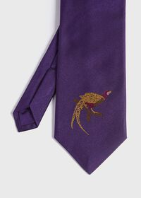 Pheasant Silk Tie, thumbnail 1