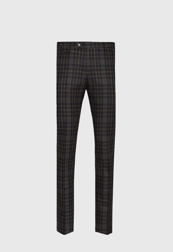 Plaid Wool Blend Pant, image 1