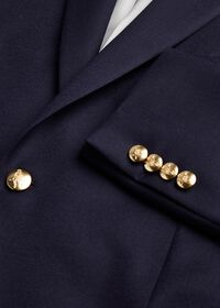 Stuart Fit Doeskin Blazer with Gold Buttons, thumbnail 3
