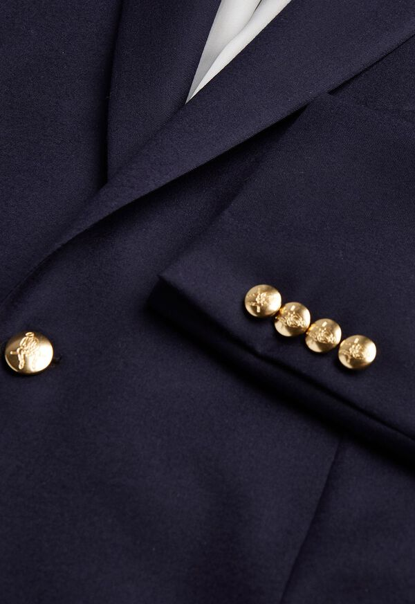 Stuart Fit Doeskin Blazer with Gold Buttons, image 3