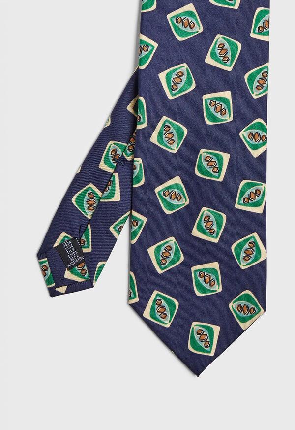 Deco Square Print Tie, image 1