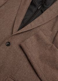 Cashmere Tan Melange Vest Jacket, thumbnail 4