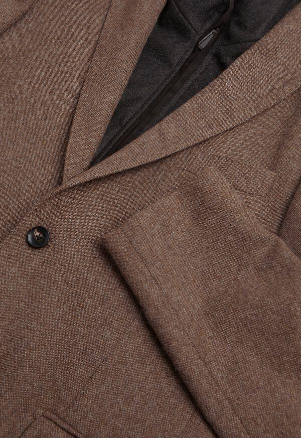 Cashmere Tan Melange Vest Jacket, image 4