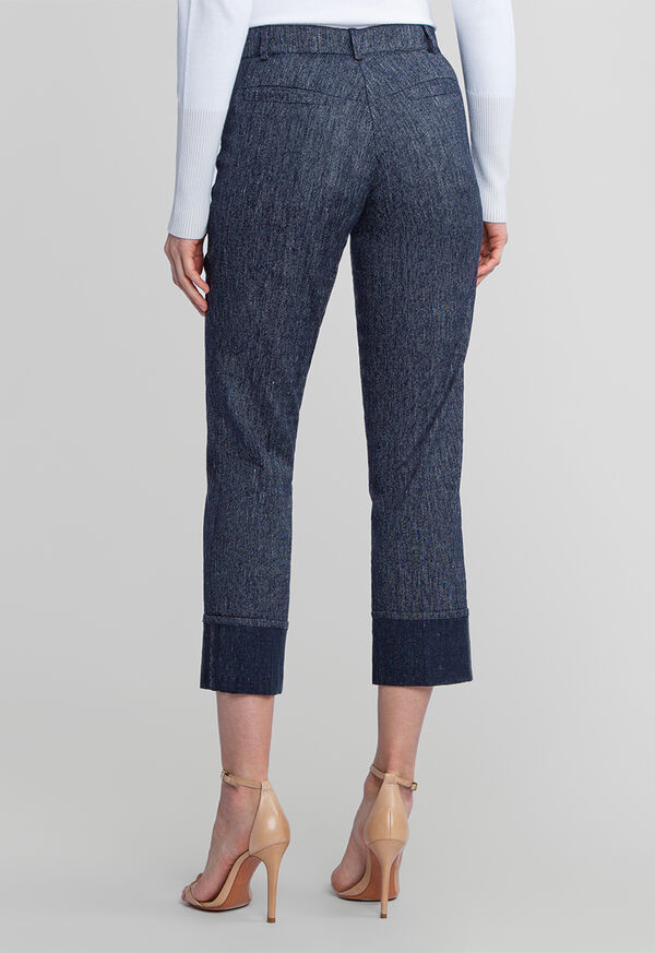 Denim Pant with Cuff Detail, image 2