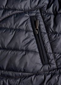 Nylon Button Front Quilted Vest, thumbnail 5