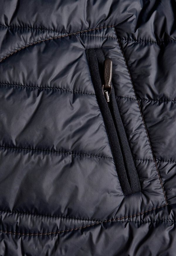 Nylon Button Front Quilted Vest, image 5